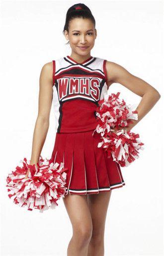 Womens USA American Cheerleader High School Fancy Dress Costume Ladies Outfit
