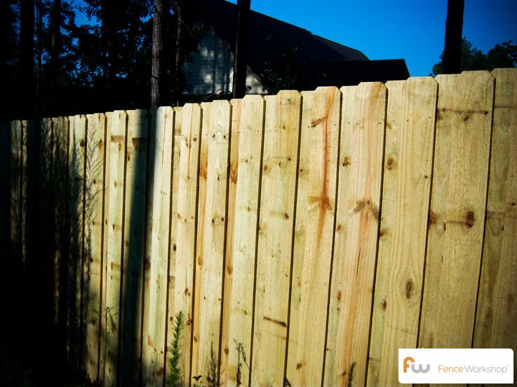 The Fortson Board On Board Wood Privacy Fence Pictures Per Foot Pricing Wood Privacy Fence Fence Wood