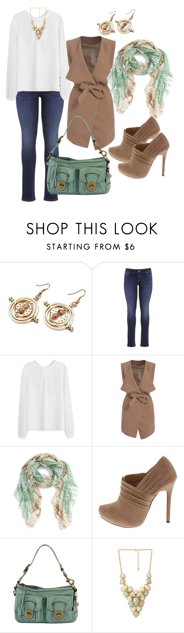 """""""Sea foam and neutrals"""" by kat9238 on Polyvore featuring maurices, Nordstrom, Karl Lagerfeld, Coach, Forever 21, women's clothing, women, female, woman and misses"""