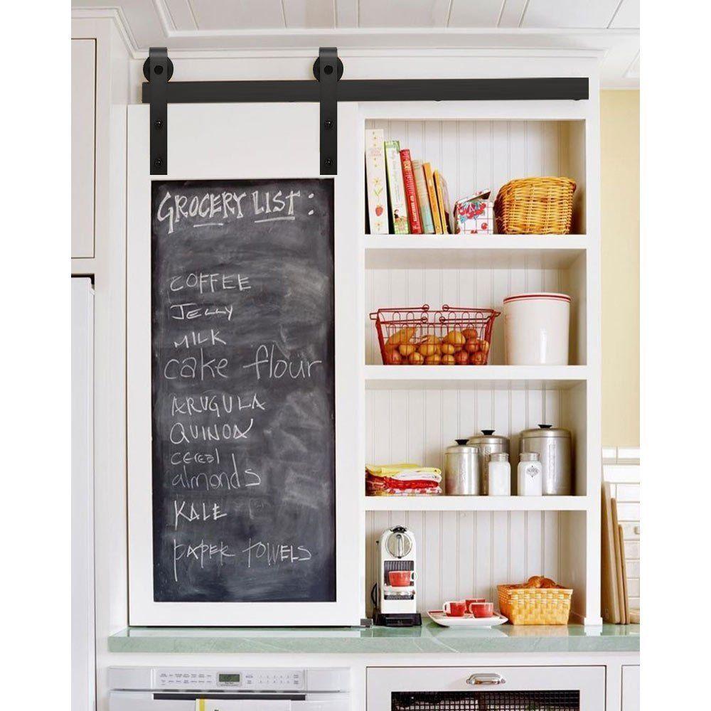 4ft 5ft Mini Small Sliding Barn Door Hardware Kit Cabinet Tv Stand J Shape Saledecoration With Images Retro Kitchen Home Kitchen Decor
