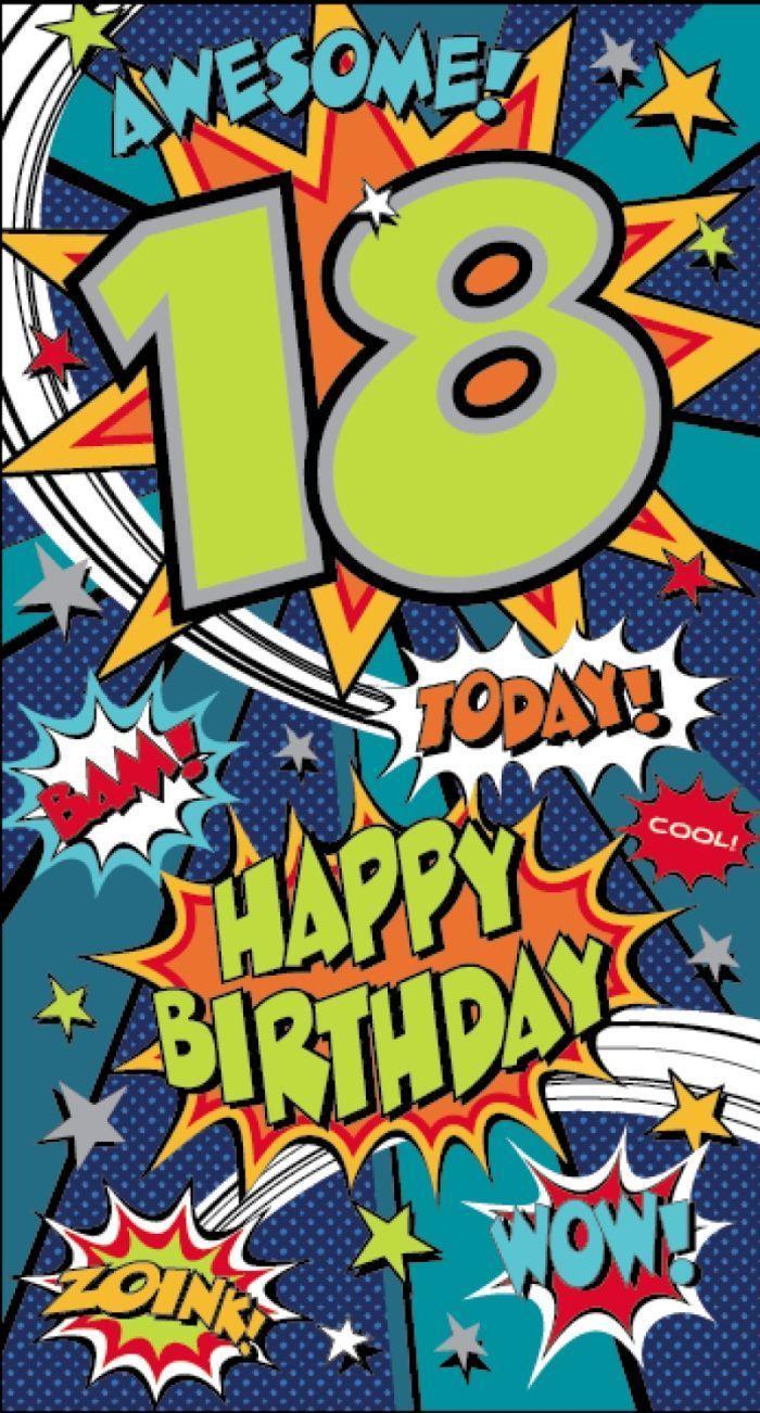 Wonderbaarlijk Happy 18th Birthday | Verjaardagskaart, Gefeliciteerd QD-41