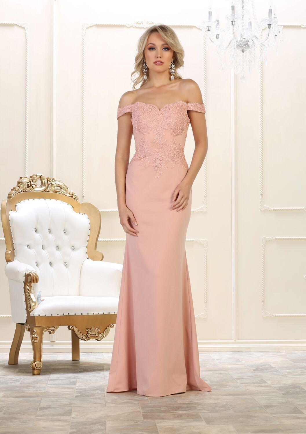 3bfa51af882e This stunning mermaid fit floor length dress comes with off shoulder and  embellish lace appliques with small rhinestones on top and stretch ITY  material.