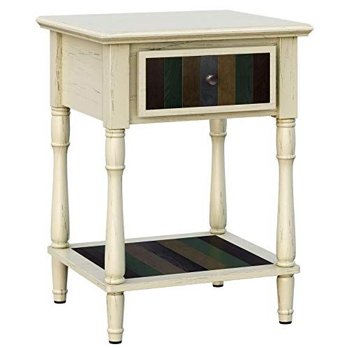 Best Vasagle Nightstand With 1 Colorful Drawer Bedside Table 400 x 300