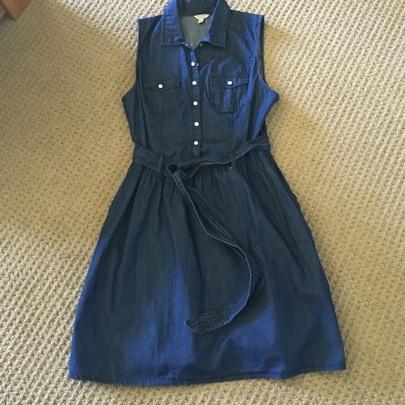 Guess size large denim dress 100 cotton size large denim dress by Guess brand new without tags. Never worn Guess Dresses Mini