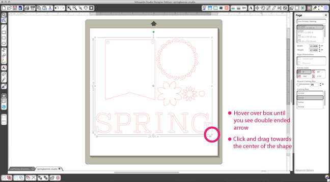 Resizing Shapes In Silhouette Studio Spring Banner Silhouette Tutorials Silhouette America