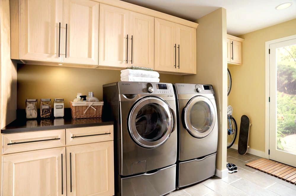 Hanging Laundry Room Cabinets Laundry Room Cabinets With Hanging Rod