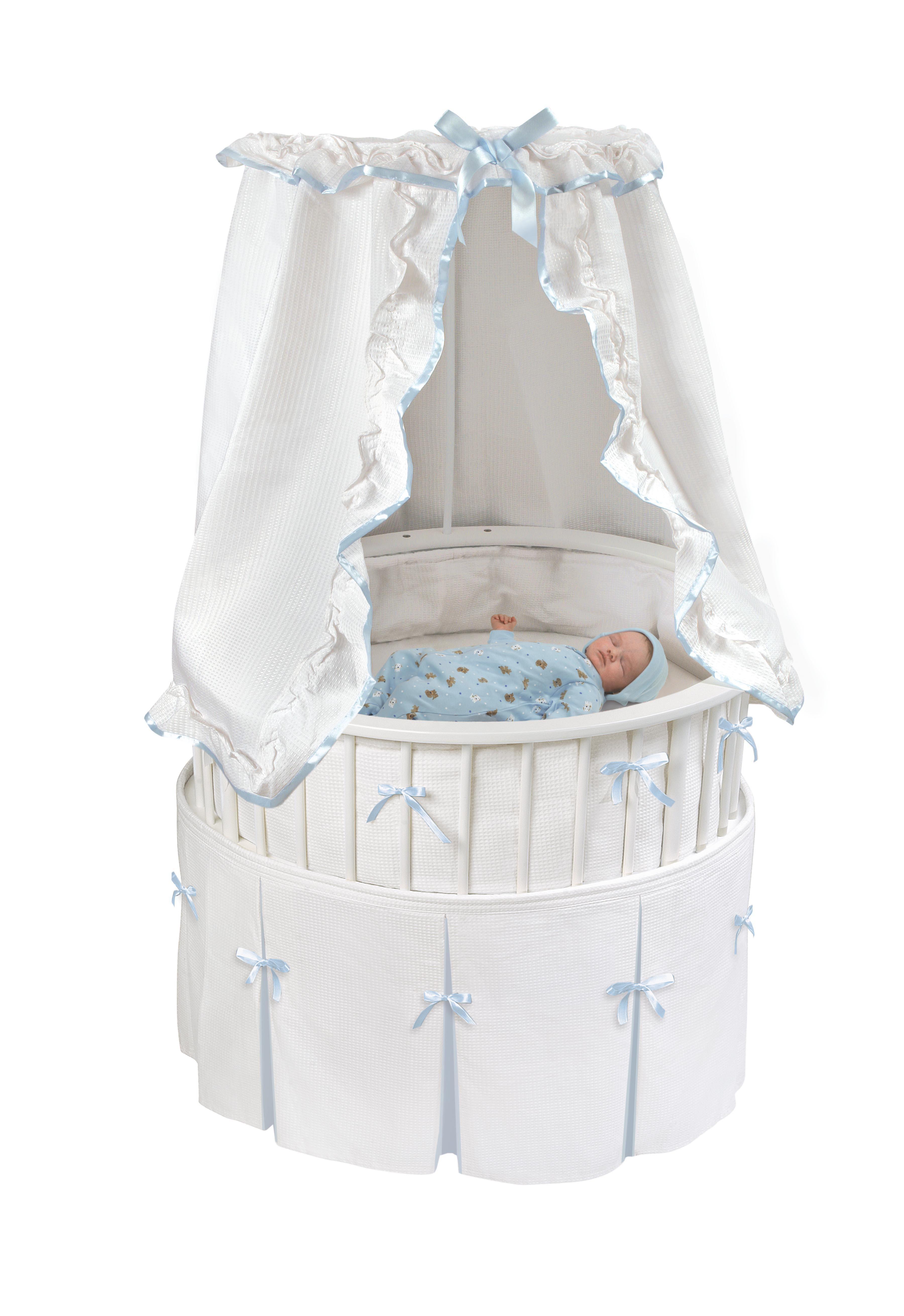 Badger Basket Elite Oval Baby Bassinet White | Baby bassinets ...