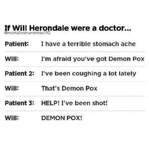 will herondale as a doctor