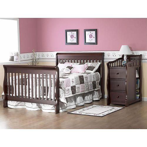 "Sorelle Princeton 4-in-1 Convertible Crib & Changer - Espresso - C International - Babies ""R"" Us $359.99"