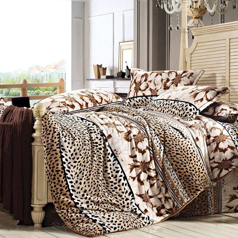 Happy Season Winter Duvet Cover Set Flannel Bedding