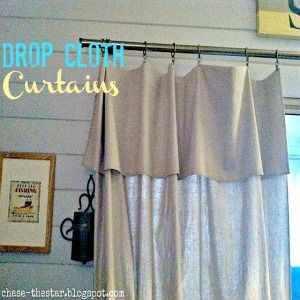 Behold The Drop Cloth Curtain Decor8 Curtains Pinterest Drop