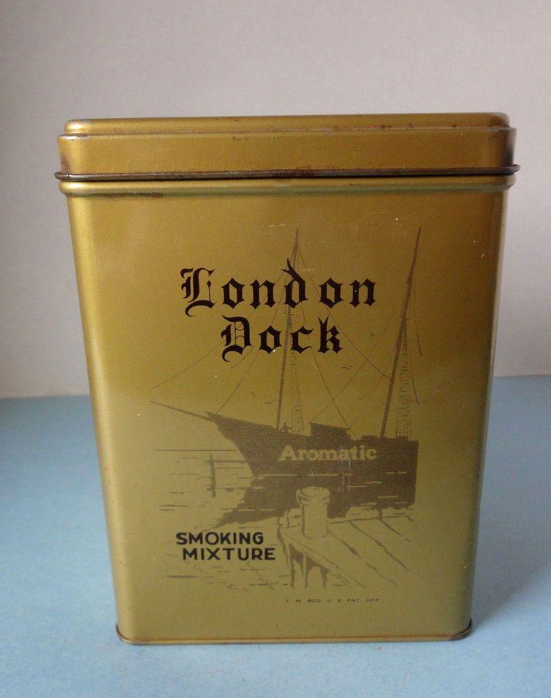 London Dock Pipe Tobacco Vintage Tin, Bloch Bros Tobacco Co. Wheeling W VA USA