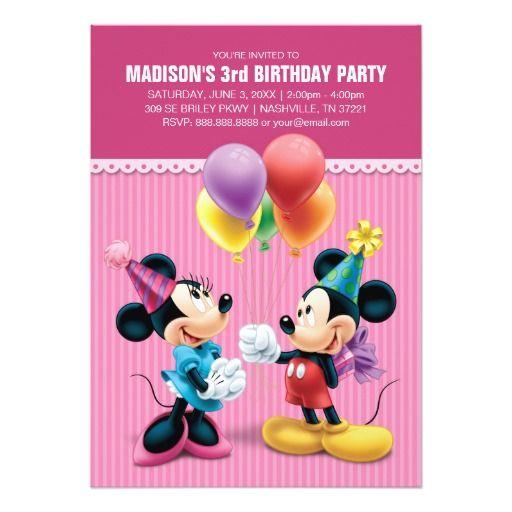 Mickey Minnie Birthday Card Birthday Cards Minnie Birthday