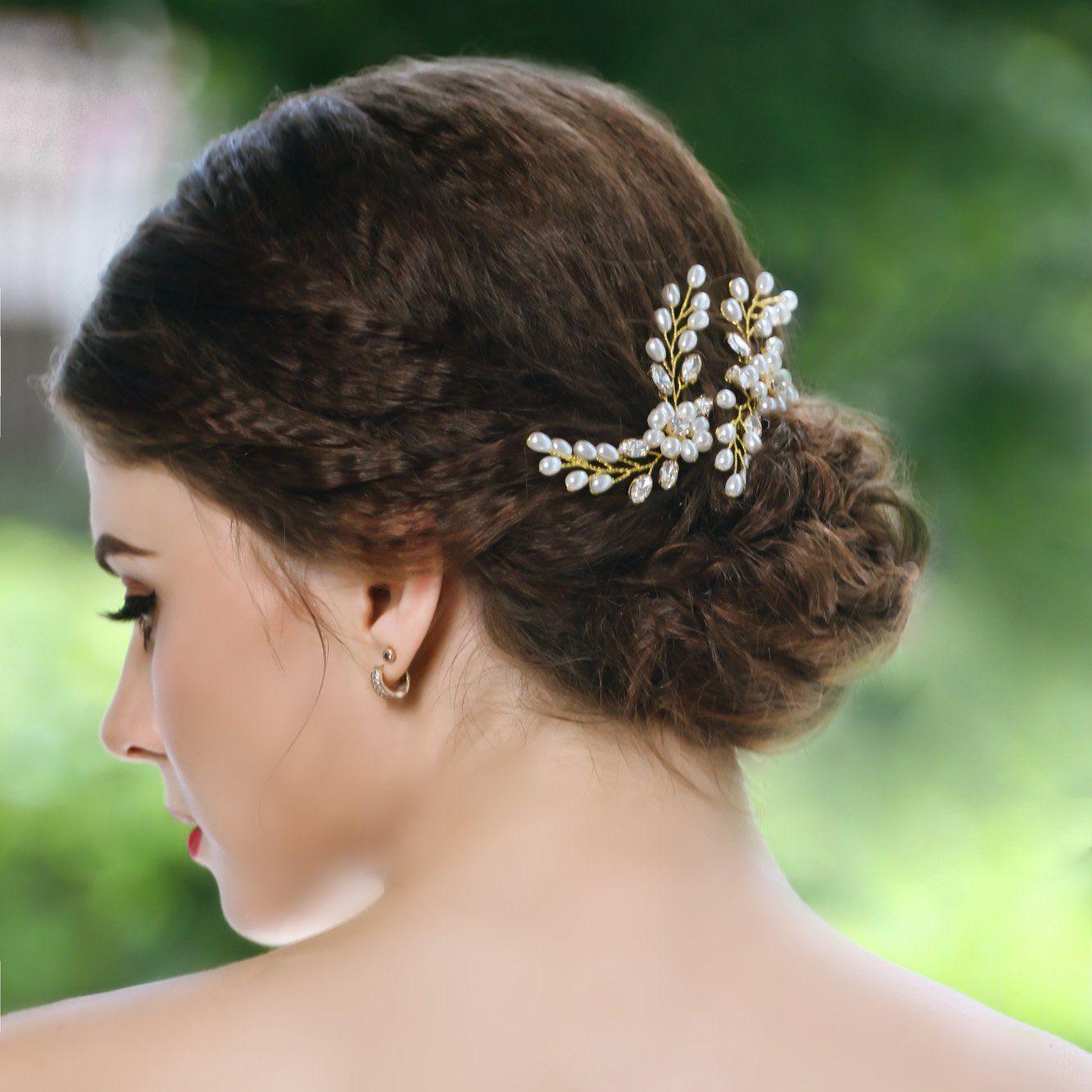unicra wedding hair pins hair set jewelry decorative bridal