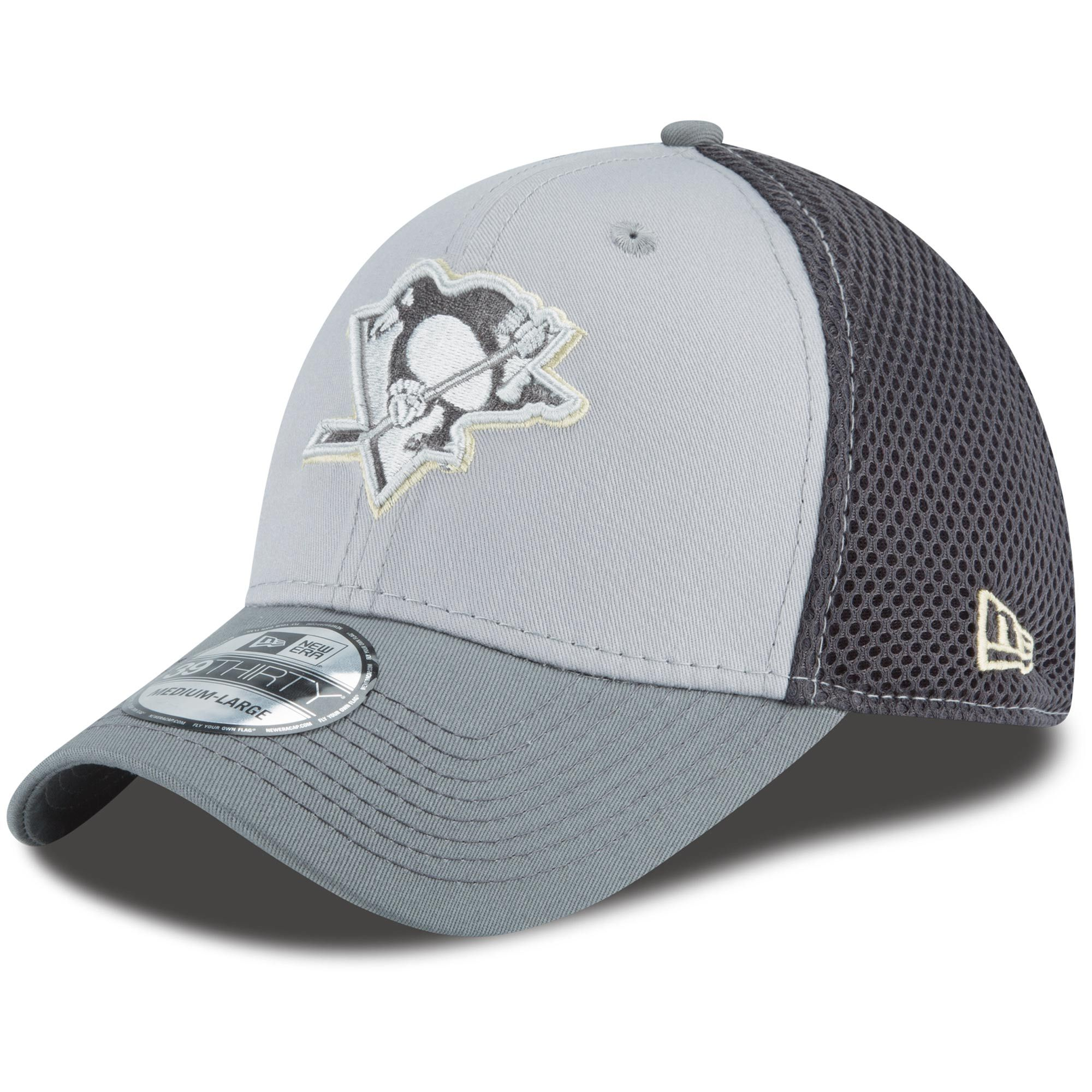 new arrivals d9d2a aa385 Pittsburgh Penguins New Era Grayed Out Neo 39THIRTY Flex Hat - Gray
