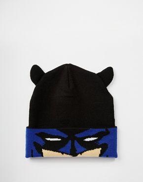 d17014f1d01 ASOS Batman Beanie In Black
