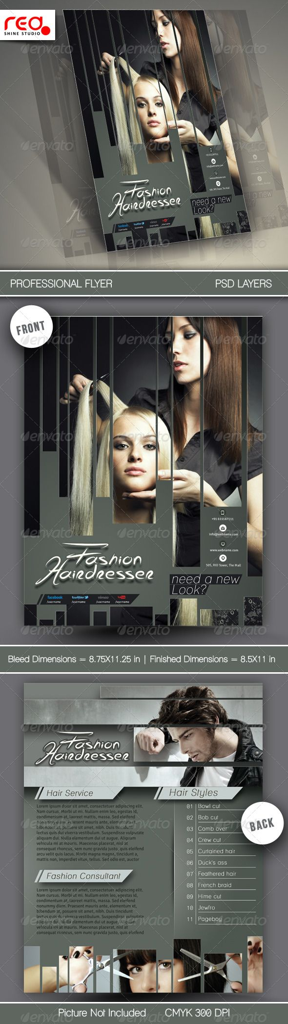 Hair Salons Flyer Template  Flyer Template Salons And Template