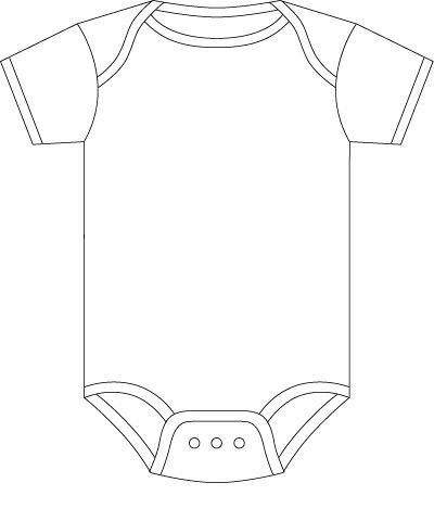 Onesie Template For Baby Predictions  Baby Shower
