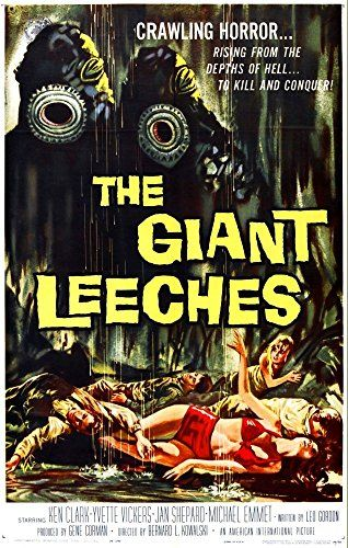 'The Giant Leeches - 1959' (2) - Fantastic A4 Glossy Print Taken from A Vintage Sci-Fi Movie Poster by Design Artist http://www.amazon.co.uk/dp/B00V69JS4I/ref=cm_sw_r_pi_dp_6n1jvb03202MP