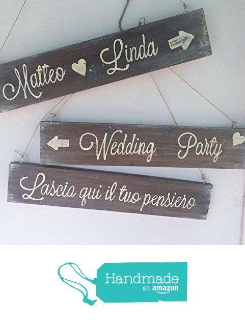 Cartelli matrimonio in legno fatti a mano da Laura Idee Creative https://www.amazon.it/dp/B01KL0F24M/ref=hnd_sw_r_pi_dp_DC.yyb8HS2QHA #handmadeatamazon