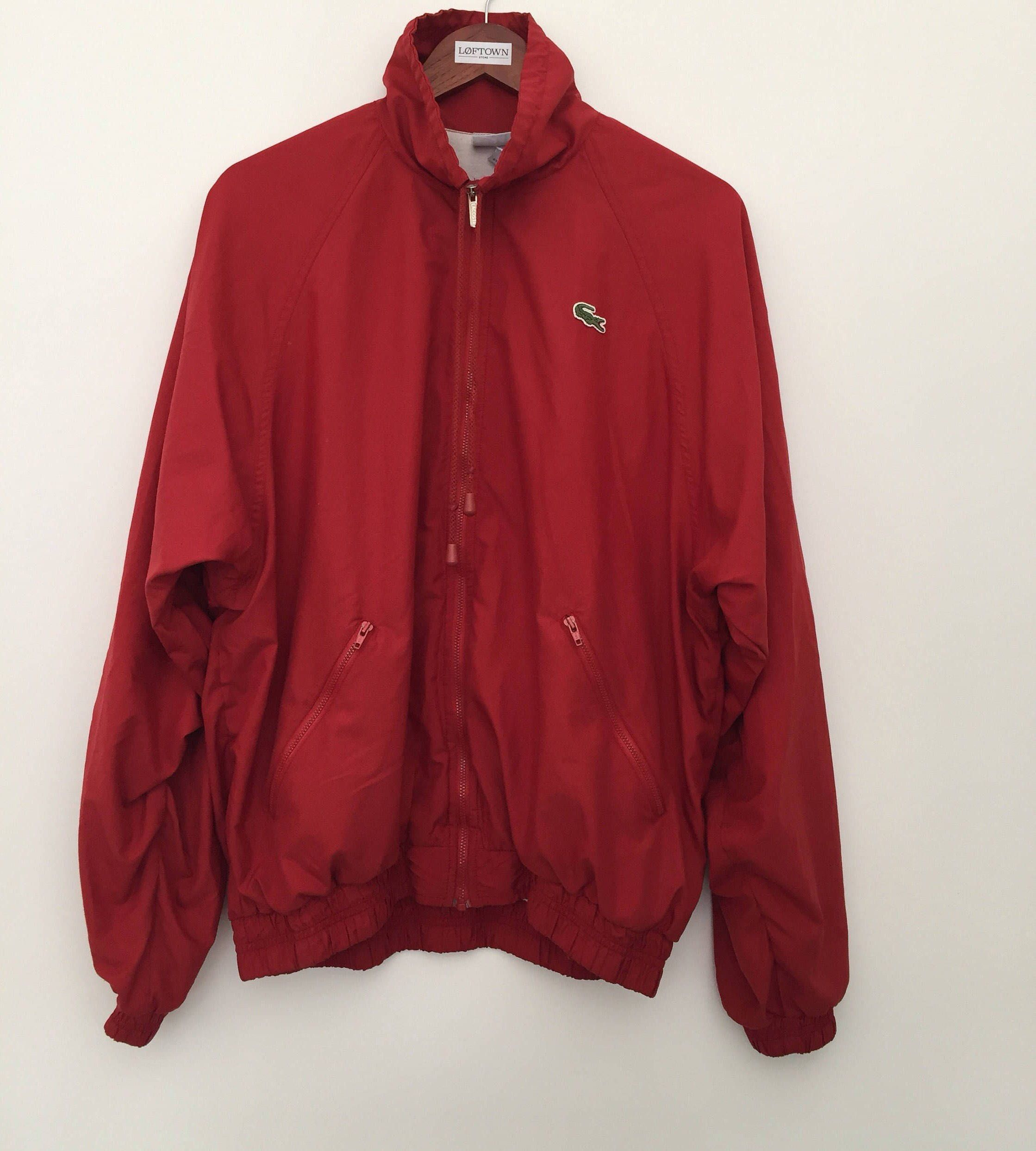 8720d22f0f2 Vintage Lacoste / Lacoste jacket / Lacoste / vintage windbreaker / 90s  windbreaker / red windbreaker / 90s jacket / made in France / by LOFTOWN on  Etsy