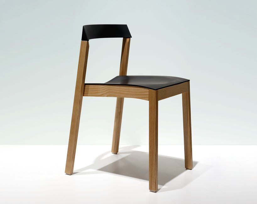 Wood And Rubber Stackable Chair By O4i