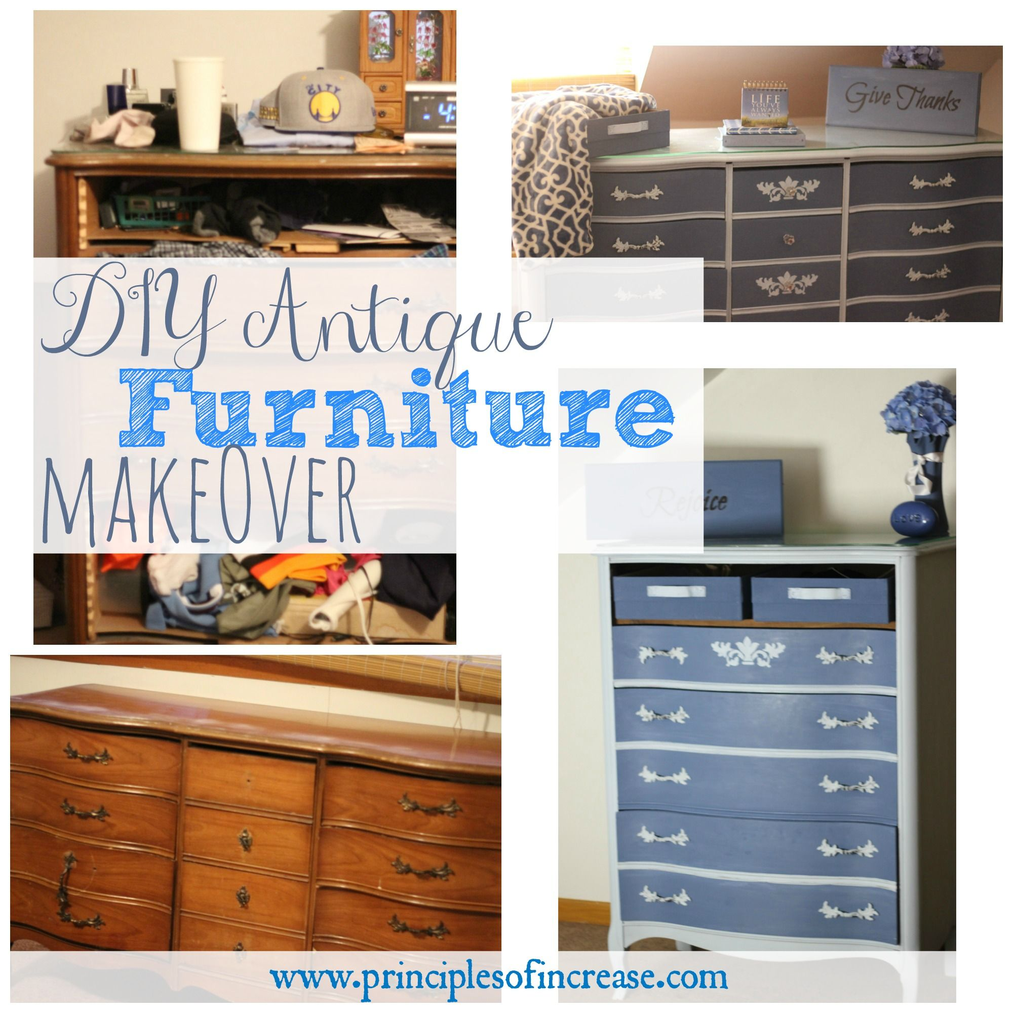 Diy Antique Furniture Makeover Before After Pictures Upcycle Frugal Living And