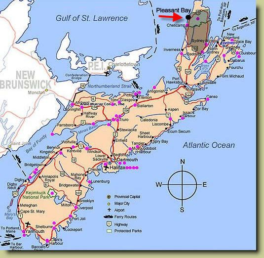 Map Of Nova Scotia Canada Cabot Trail Pin on Been There, Done That !
