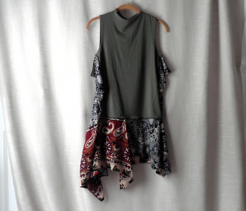 Xl plus size slimming gypsy lagenlook boho hippie art wear