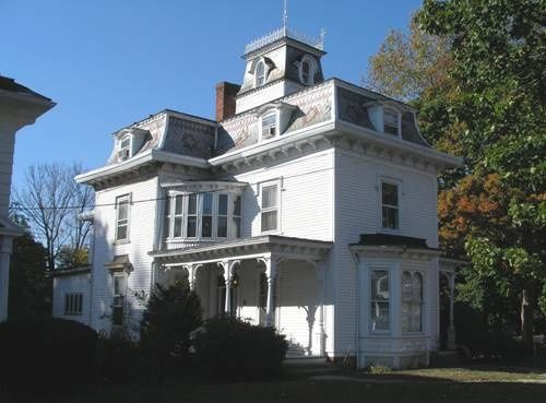 Historic Buildings Of Connecticut Blog Archive The Oliver H Easton House 1869 Mansard Roof Roof Architecture Modern Roofing