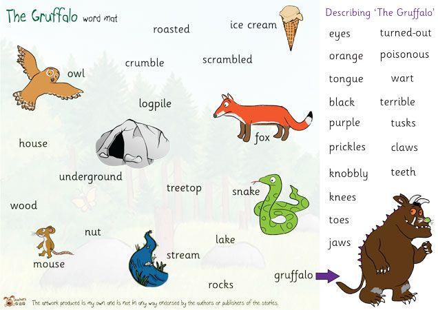 Teacher's Pet - The Gruffalo Word Mat - FREE Classroom Display ...
