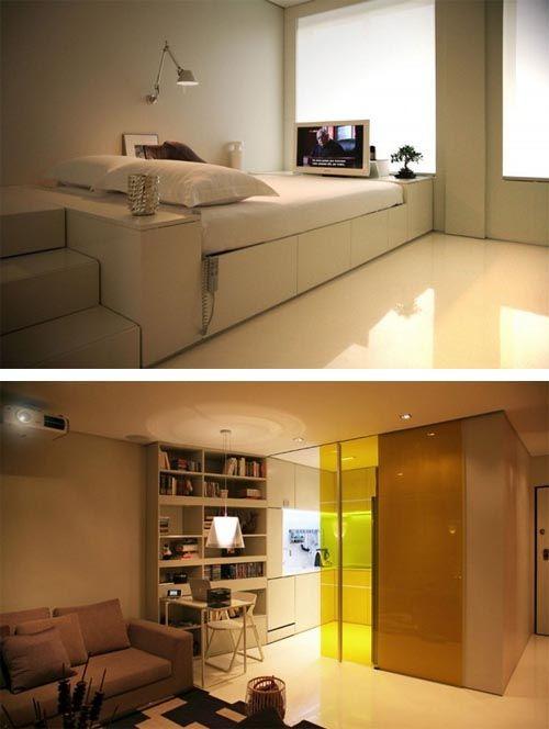 Hi Tech Small Apartment Interior Design Smart Home Design Small