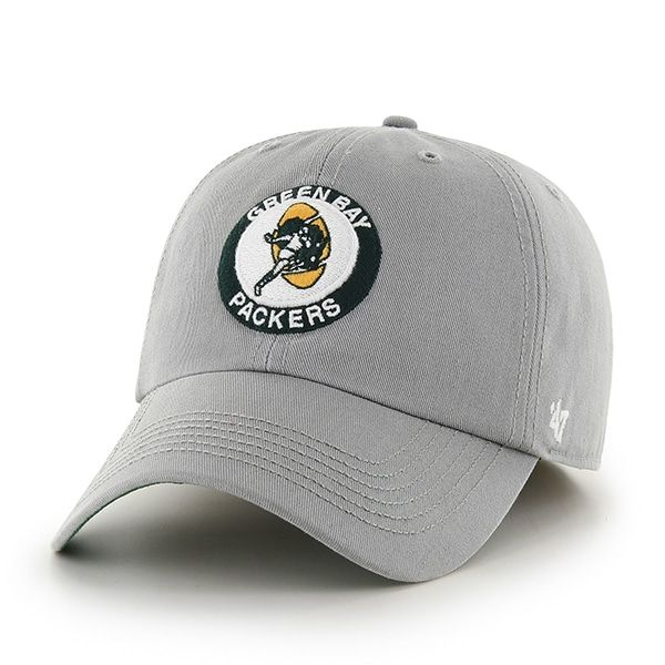 70a74ee9ac0 Green Bay Packers MEDIUM 47 Brand Classic Gray Franchise Fitted Hat ...
