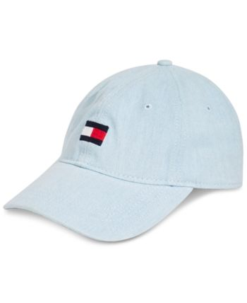 326f5e07 Shop Tommy Hilfiger Men's Ardin Logo Embroidered Denim Cap online at  Macys.com. Complete your classic casual look with the soft denim and  interior madras ...