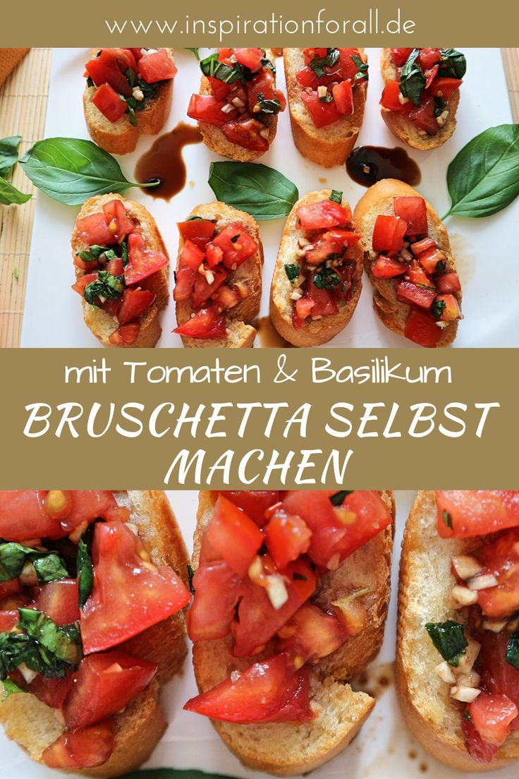 Photo of Make bruschetta yourself – delicious recipe with tomatoes & bas …