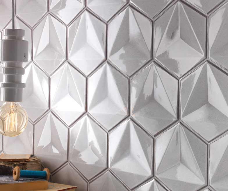 Bright And Beautiful Three Dimensional Effect Cream Ceramic Wall Tiles Of Italian Design Tilestyle Showr In 2020 Geometric Tiles Ceramic Wall Tiles Wood Effect Tiles