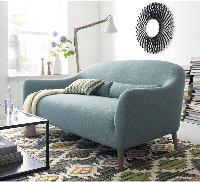 Nordic Réel Salon Tissu De Meubles Canapé Tissu Canapé Simple Ou Double  Canapé Petit Appartement Canapé