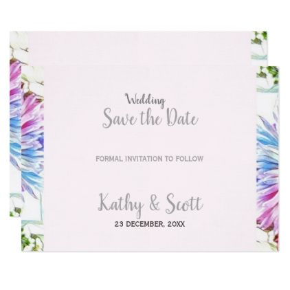121204 Floral Spring Wedding Save the Date Card Floral Wedding