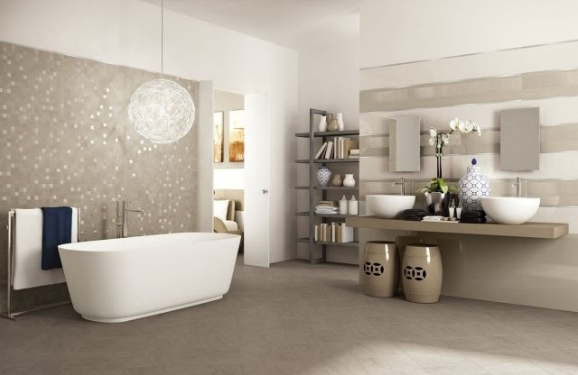 1000 images about salle de bain on pinterest modern interior design bath toy storage and chalets - Faience Mosaique Salle De Bain Moderne