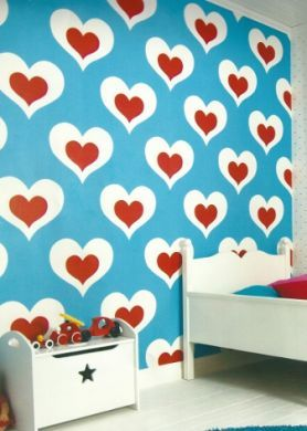 Turquoise and red! Time to paint the kids room!