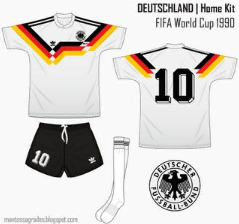 Germany Home Kit For The 1990 World Cup Finals Dfb Trikot