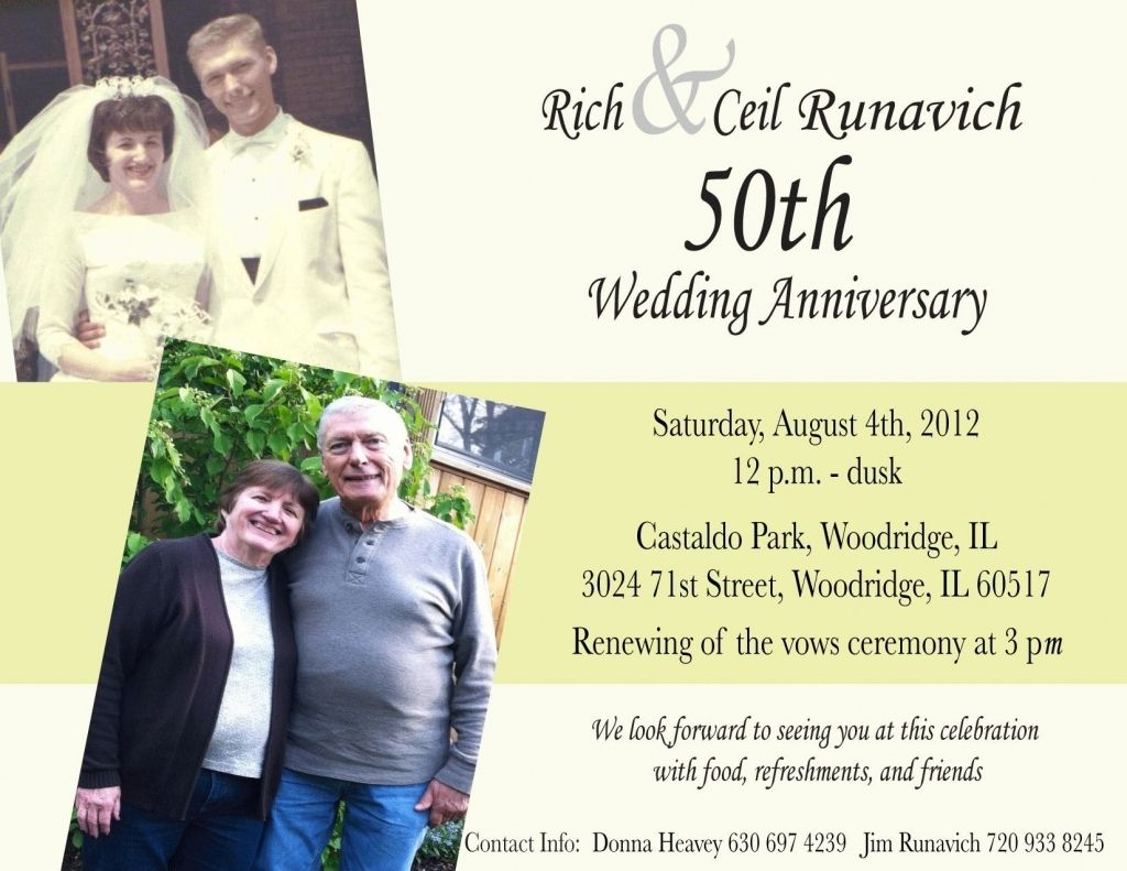 50th wedding anniversary invitation wording Check more image at http ...