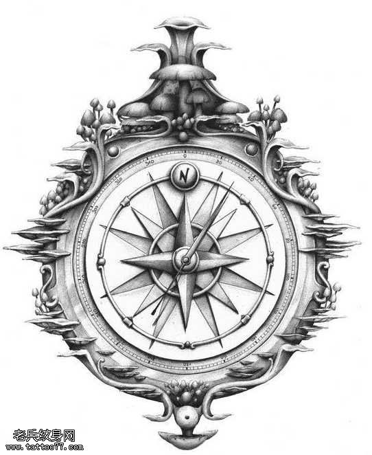 Pin by ph m ng on new compass tattoo pinterest for Vintage tattoo art parlor