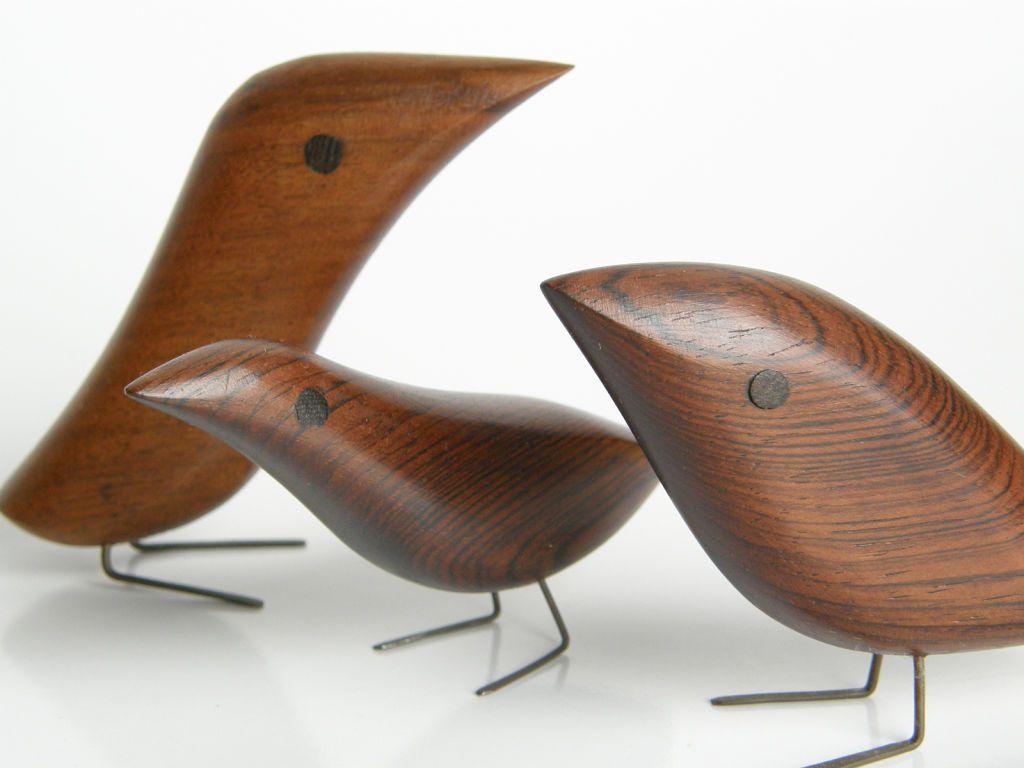 danish wooden birds