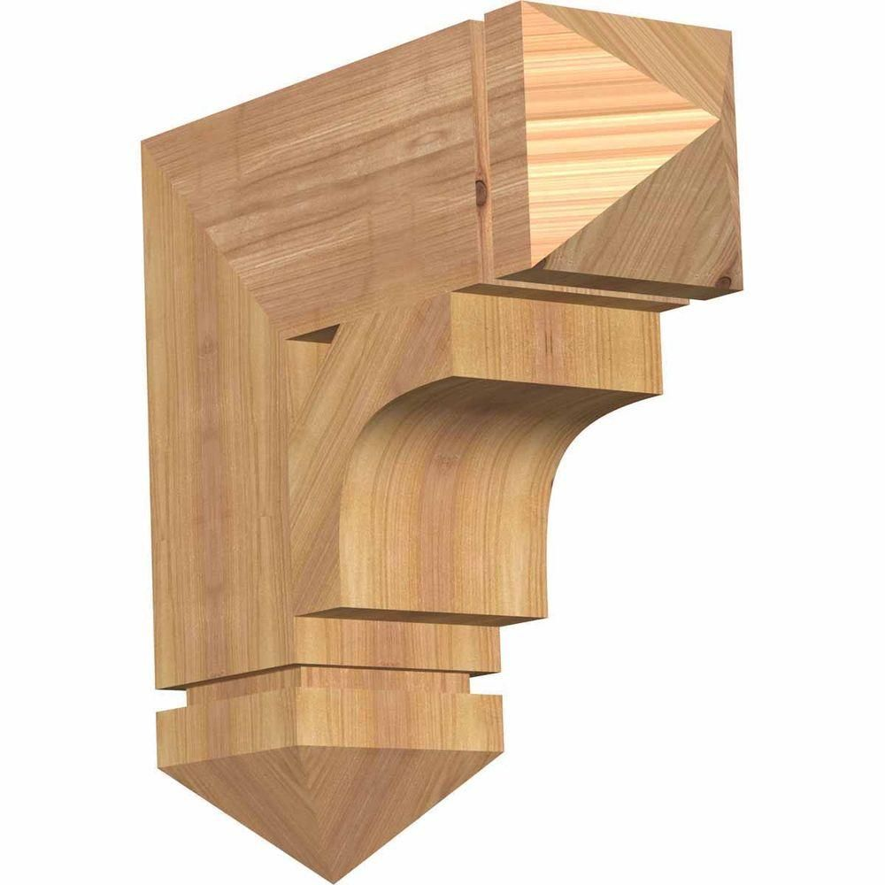 Ekena Millwork 3 5 In X 18 In X 18 In Douglas Fir Westlake Arts And Crafts Smooth Bracket Bkt04x18x18wtl03sdf The Home Depot Western Red Cedar Rustic Wood Wood Brackets