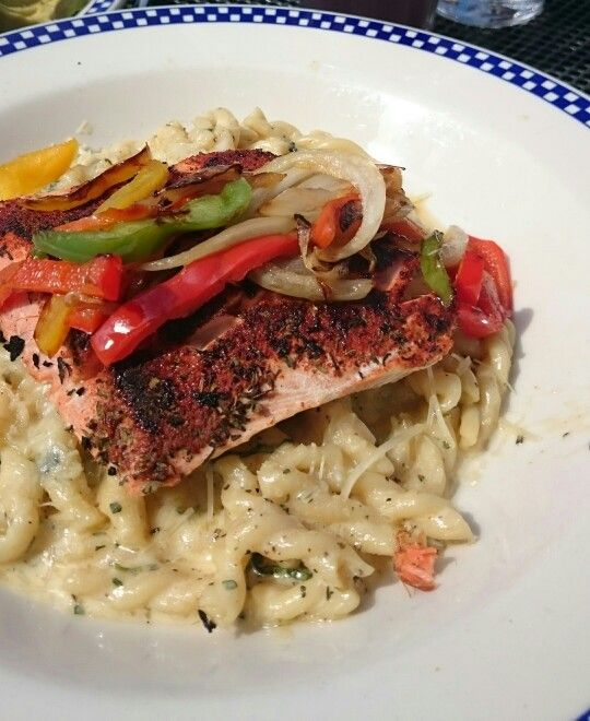 Duke S Favorite Pasta With Wild Alaska Salmon The Was Dry But Flavors Were Good And Tasty