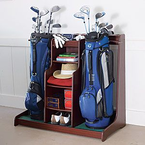 Double Golf Bag Organizer | Golf... | Pinterest | Golf bags, Golf and Storage