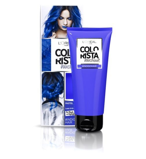 Hair Colour Colorista Washout Indigo Hair For Blonde Ombre