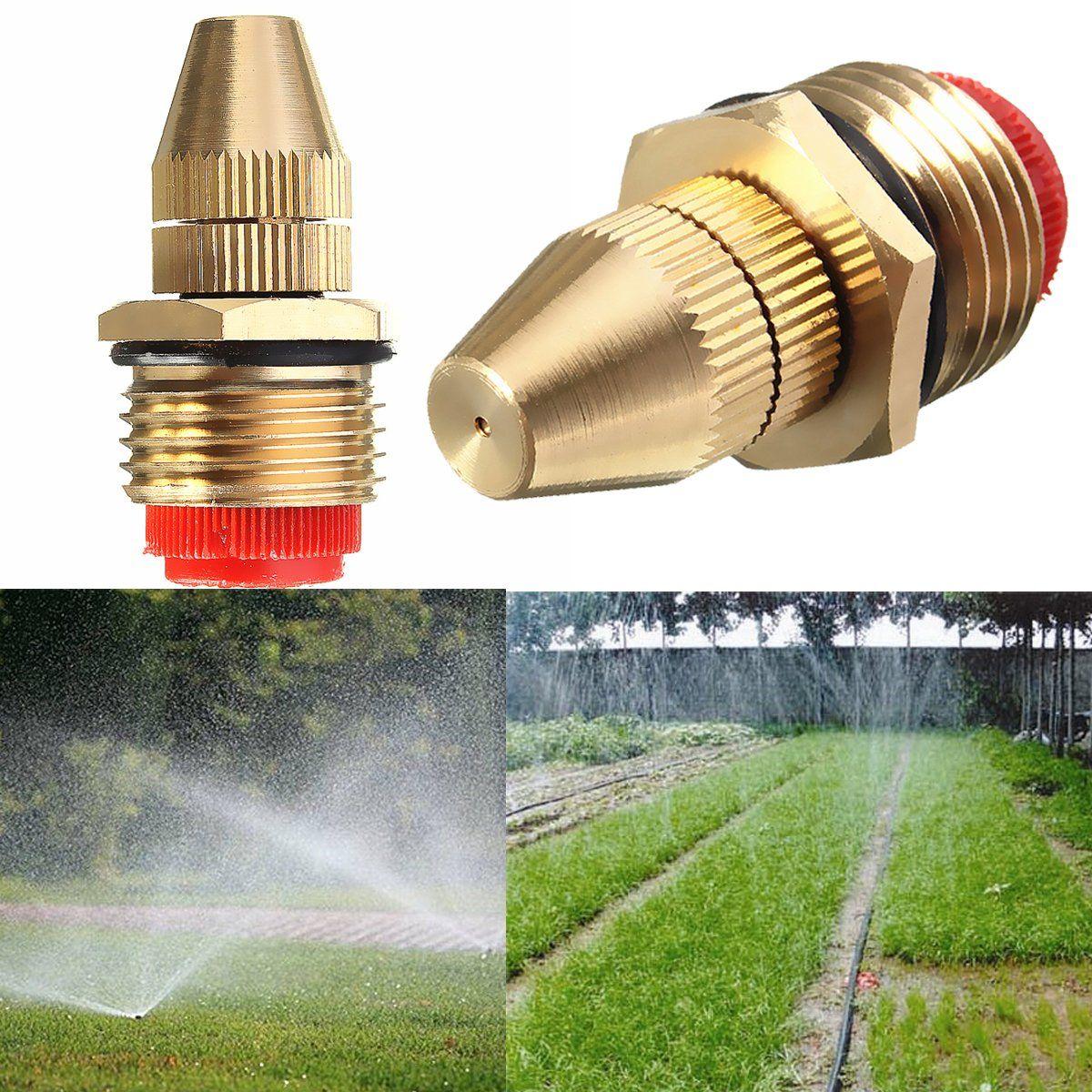 1 2 Inch Brass Adjustable Sprinkler Garden Lawn Atomizing Water Sprayer Nozzles In 2020 Sprinkler Misting Nozzles Garden Supply Online