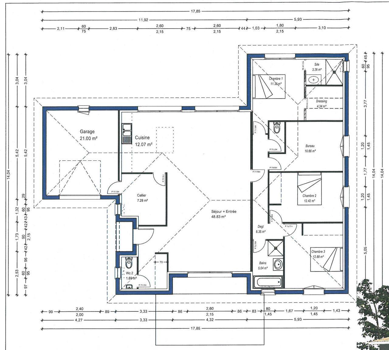 Plan maison entree sud id es uniques maison orientation sud evler en 2019 plan maison plan - Plan maison entree sud ...